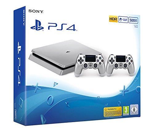 PS4 Slim 500GB Limited Edition Zilver of Goud + 2x DualShock 4 Controllers V2 voor €249 @ Amazon.de