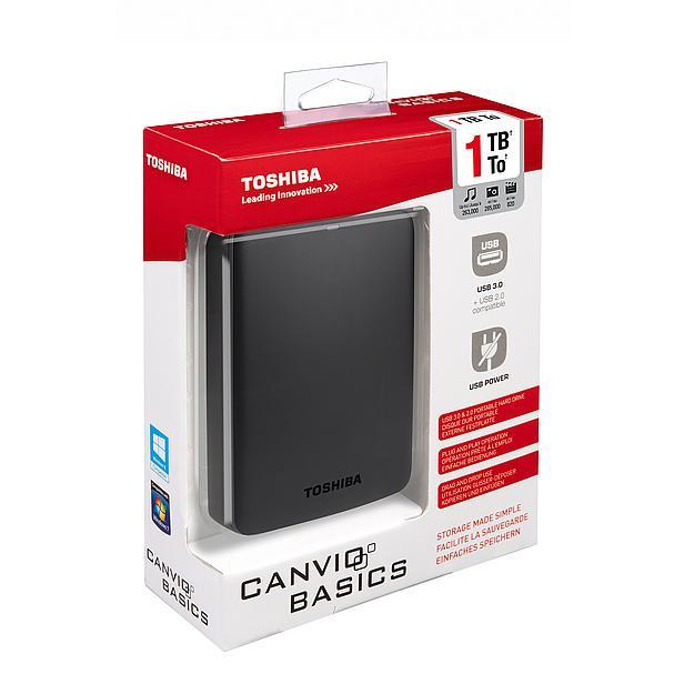 "Toshiba Canvio Basics 2,5"" Externe harde schijf 1TB voor €44,- @ Wehkamp"