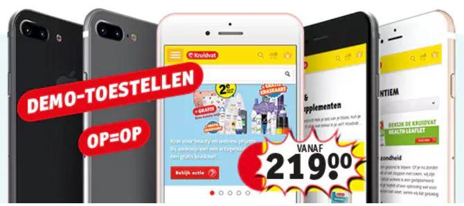 IPhones vanaf €219 (demo-model) @ Kruidvat