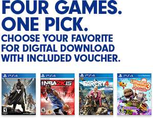 Far Cry 4, Destiny, Little Big Planet 3 of NBA 2k15 (PS4) download code voor €24,97 @ GameDealDaily