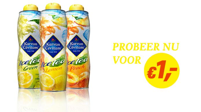 Probeer Karvan Cevitam Ice Tea voor €1,-