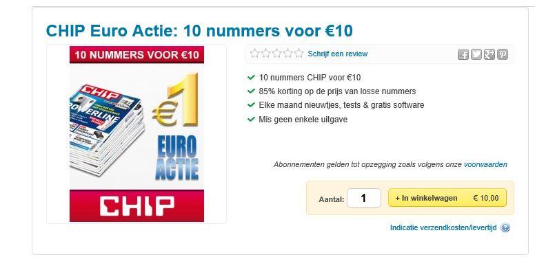 CHIP Euro Actie: 10 nummers voor €10