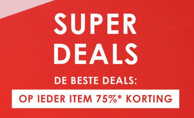 Alles met 75% korting - o.a. Vans sneakers va €11 + evt €10 extra @ Zalando Lounge
