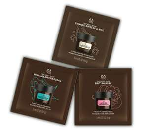Gratis: The body shop masker samples
