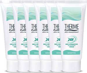 6x60 ml Therme Deodorant Deocreme Anti-transpirant Sensitive voor €21,60 @ Drogisterij