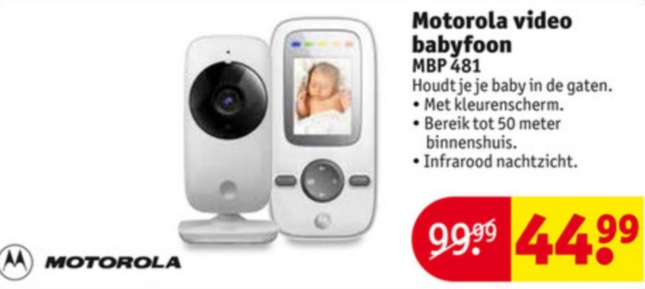 Motorola MBP 481 beeld babyfoon voor €44,99 @ Kruidvat
