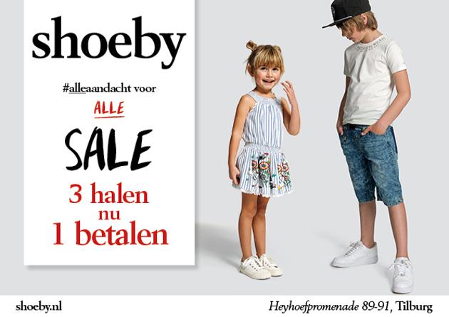 Sale bij Shoeby: 3 halen 1 betalen!