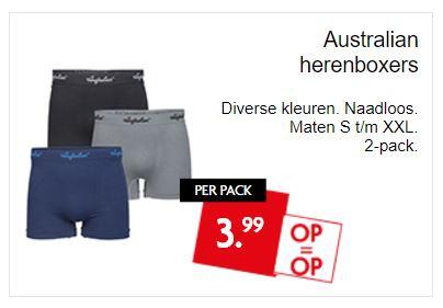 2-Pack Australian boxershorts €3,99 @ Dirk / Dekamarkt