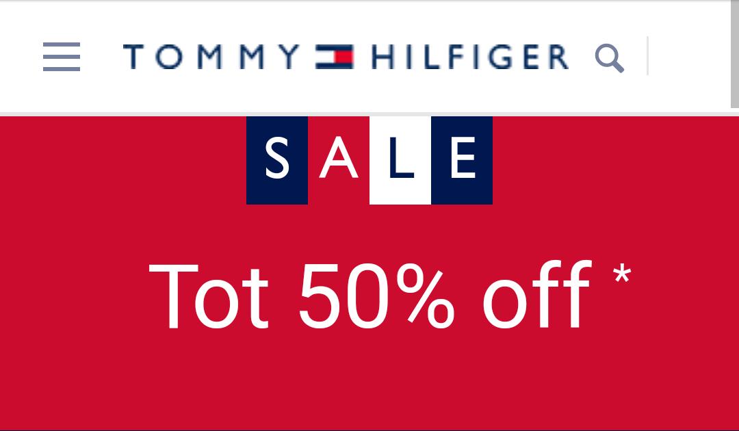 Korting tot 50% bij Tommy Hilfiger