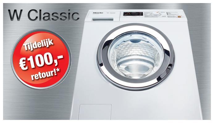 Miele WDA110 wasmachine voor € 759,- en €100,- cashback