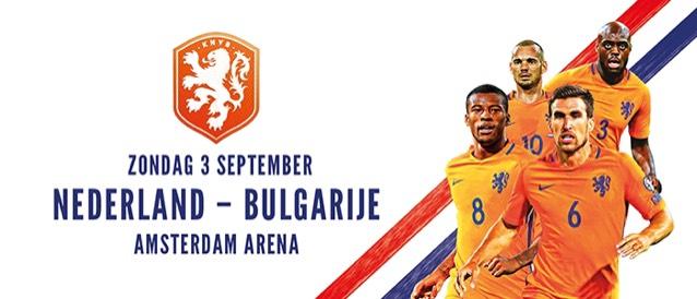Nederland-Bulgarije, slechts €12,50!