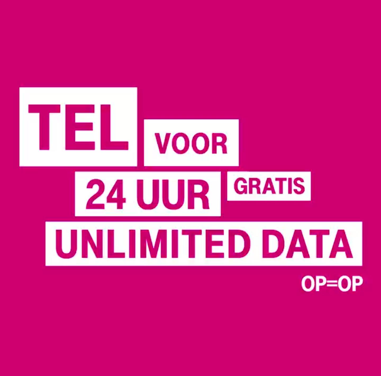 T-Mobile 24 uur unlimited data, 10.000 stuks