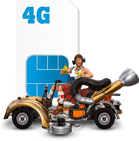 10GB 4G + onbeperkt bellen €20 P/M Tele2