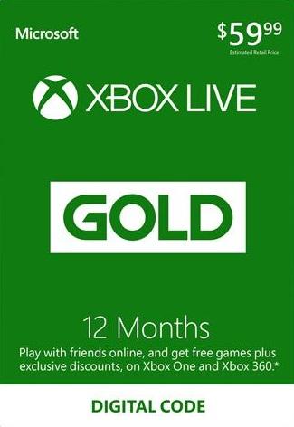 Xbox Live Gold 12 maanden digtale code voor €34,67 @ NoKeys