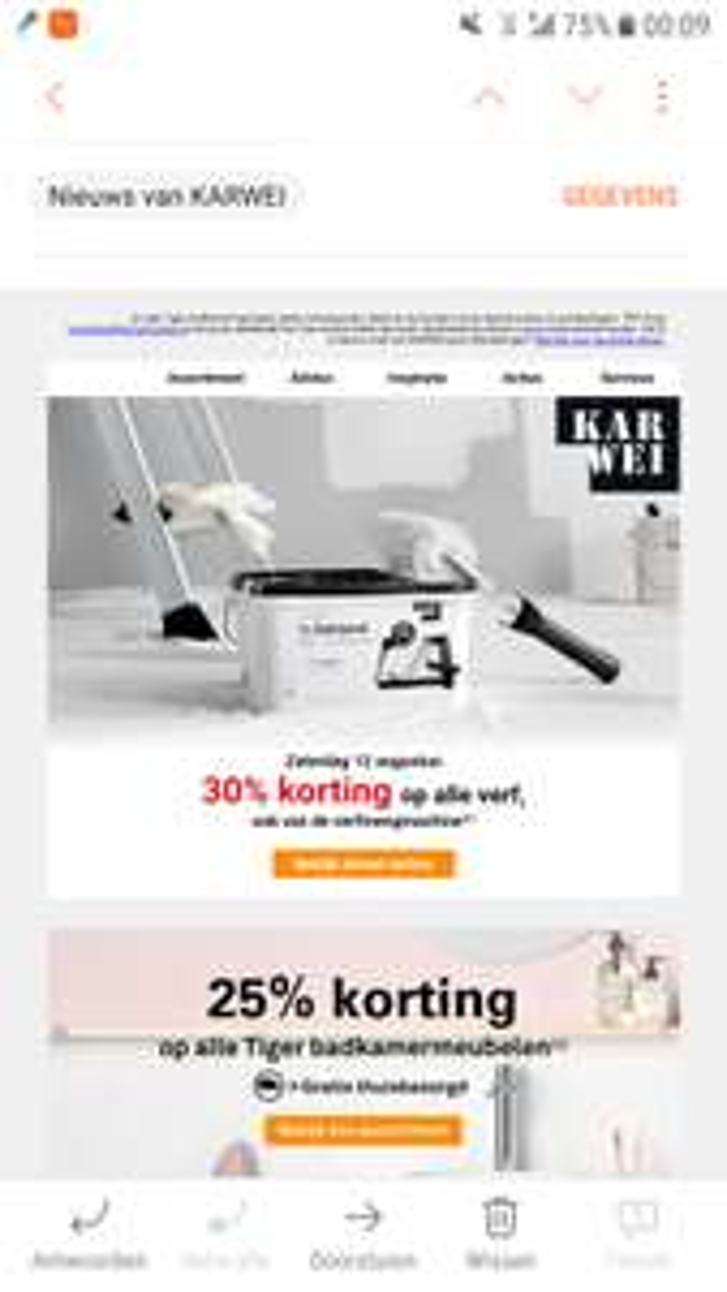 30% korting op alle verf (ook van de  verfmengmachine) @ Karwei