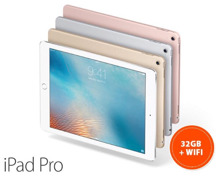 "iPad Pro 9,7"" 32gb WiFi voor €481,56 @ 1DayFly"