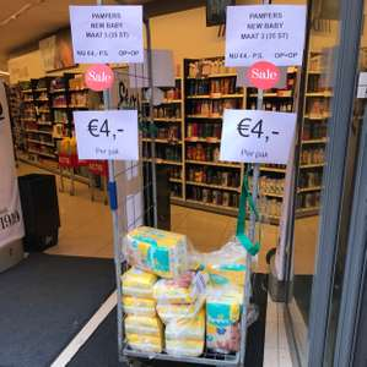 Pampers new baby maat 3 (35st) voor €4 @ Etos Nijmegen