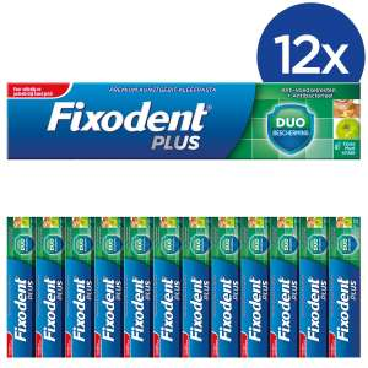Fixodent Plus kleefpasta voordeelverpakking (12 stuks) voor €9 @ Bol.com