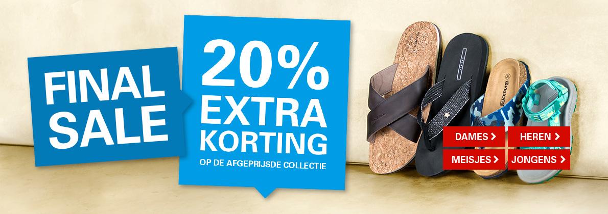 20% extra korting op sale @ schuurman schoenen