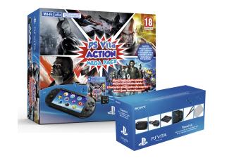 PS Vita Slim Action Mega Pack + 8GB geheugenkaart met gratis Travel kit voor €199 @ Media Markt