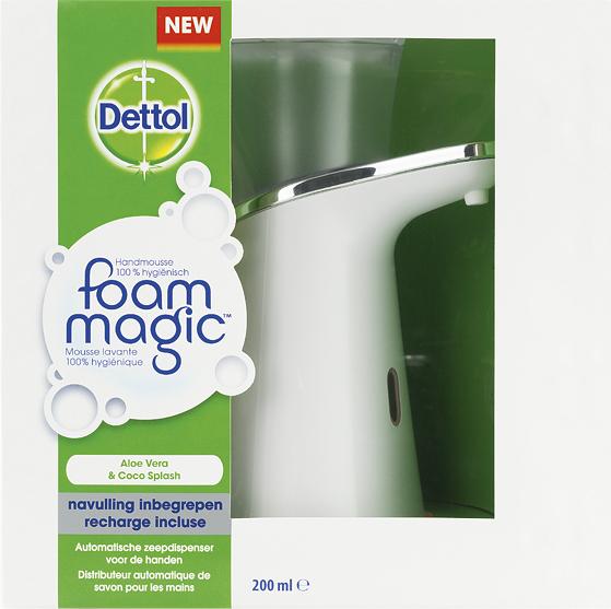 Dettol Foam Magic starter + extra navulling voor 15.99€ ipv 31.98€ bij Kruidvat