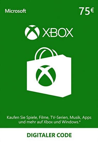 Xbox Gift Card 75 euro EU digitaal voor €54,04 (50 euro Gift Card - €37,41) @ Nokeys