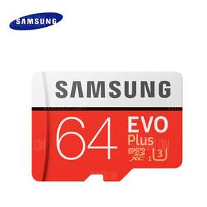 [UPDATE] Nu €17,85 Samsung EVO Plus Class 10 U3 Micro SDXC 64GB (geen SD-adapter) voor 19,46 @ Gearbest