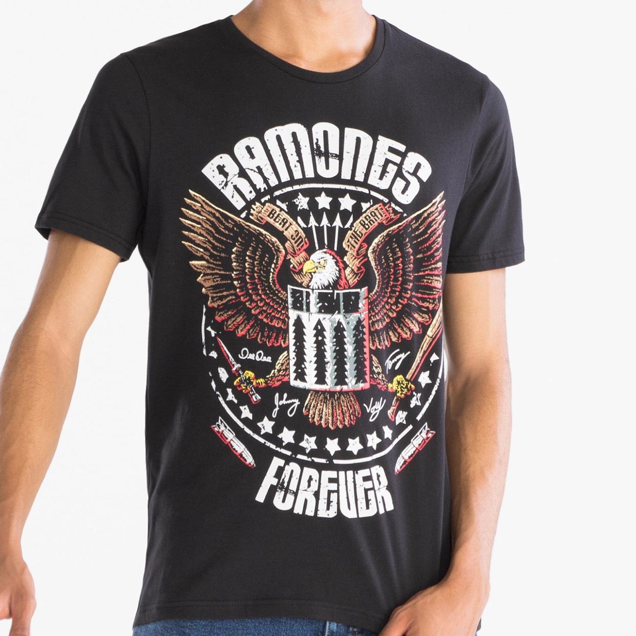 Diverse coole t-shirts van toffe bands! @ C&A