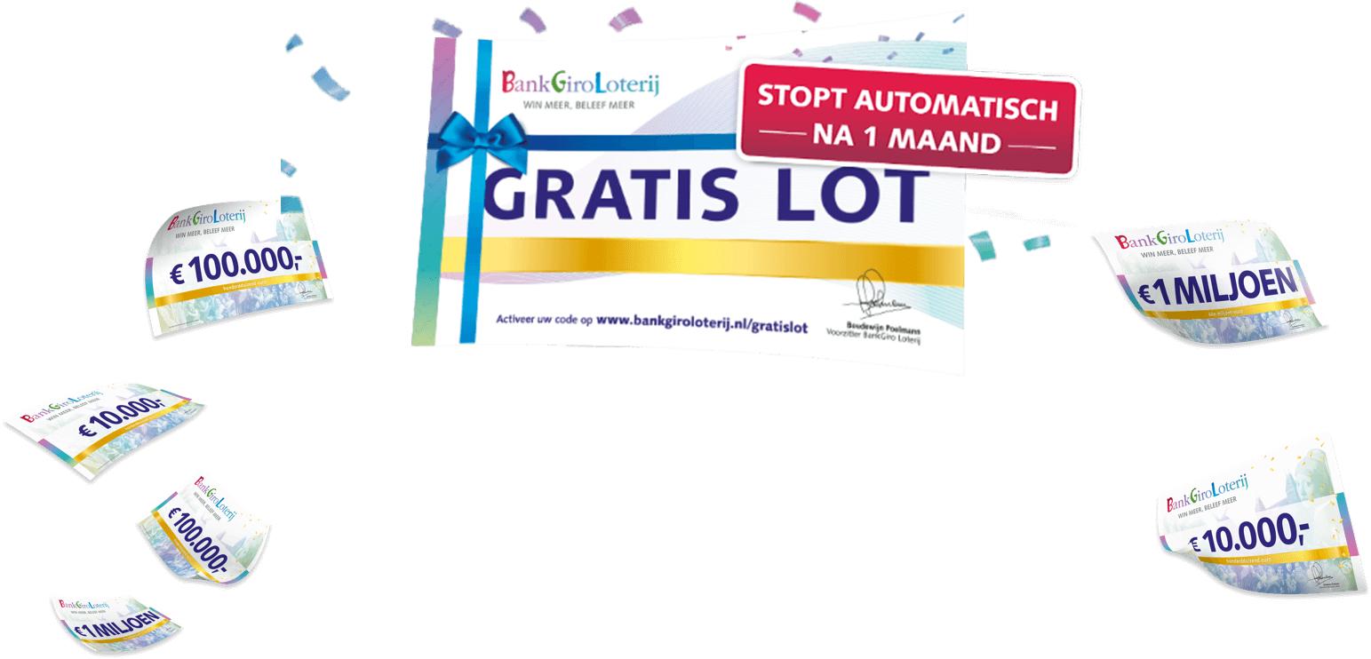 Gratis lot bij de BankGiro Loterij- Stopt automatisch na 1 maand!