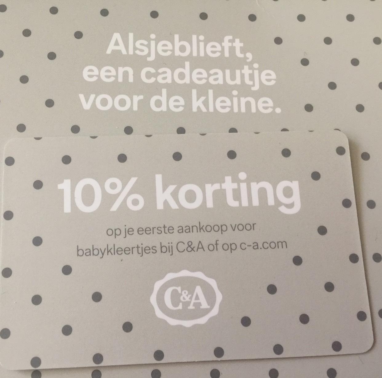 10% op babykleertjes C&A