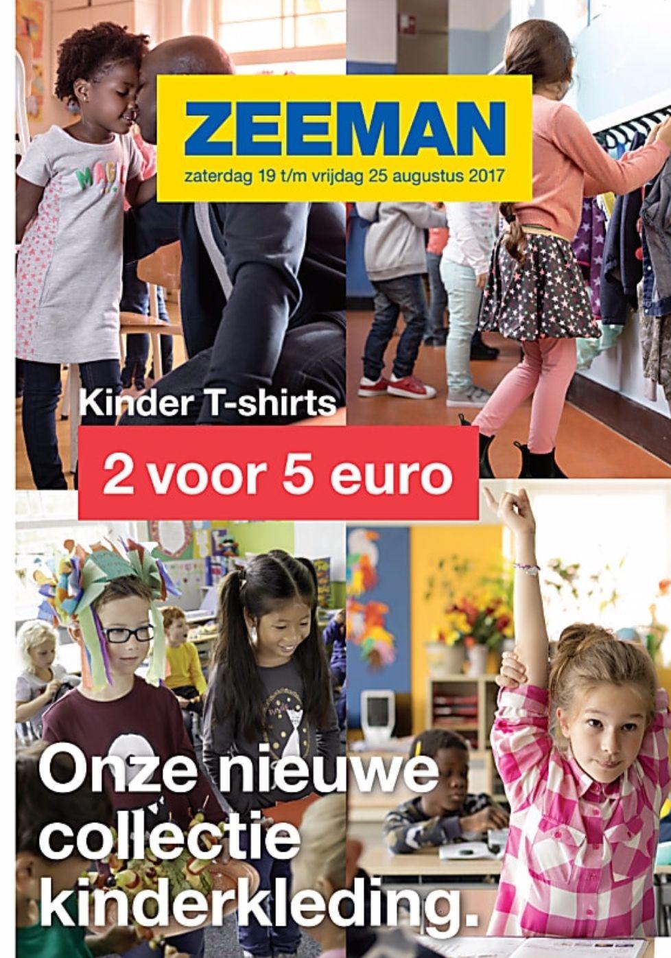 2 kinder tshirts voor €5 @ Zeeman