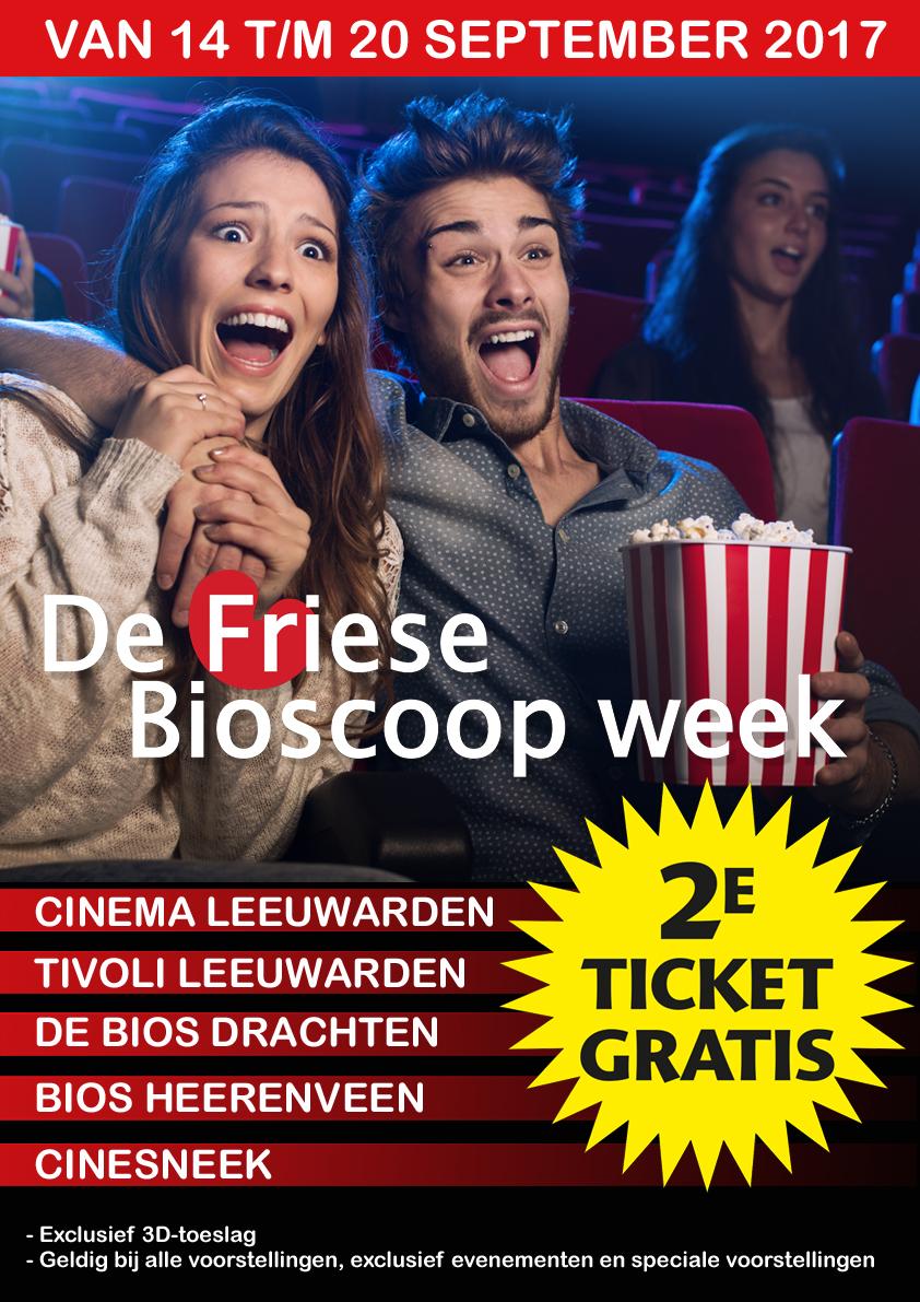 Vanaf 14 tot en met 20 september - Friese Bioscoop Week - 2e ticket gratis