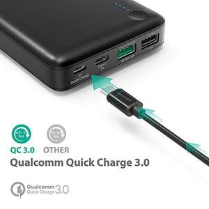 RAVPower 20100mAh powerbank met Quick Charge 3.0 en USB-C voor €29,99 @ Amazon.de