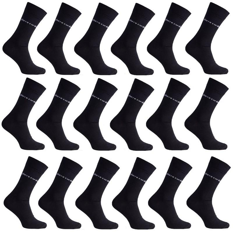 18 paar Pierre Cardin Man Business Sokken Zwart @Outlet46.de voor €12,59