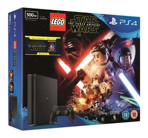 PlayStation 4 500GB Console + LEGO Star Wars: The Force Awakens Game + Blu-Ray voor €203,50 @ Amazon.co.uk