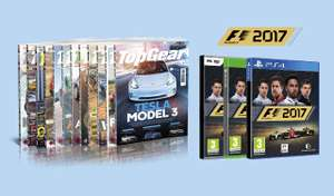 1 jaar TopGear (12 nrs) voor € 69,95 + gratis F1 2017(PC, PS4 of XBOX ONE)