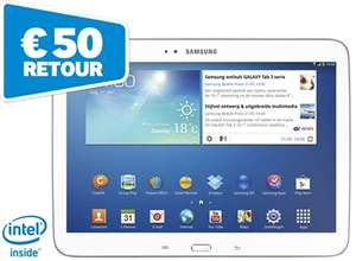 Samsung Galaxy Tab3 10.1  16GB na cashback voor €179 @ Paradigit