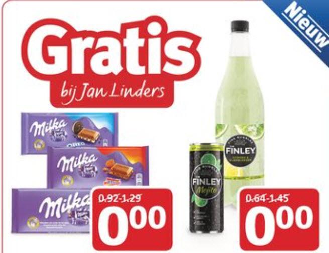 Gratis Milka Chocolade en/of Finley blik/fles @ Jan Linders