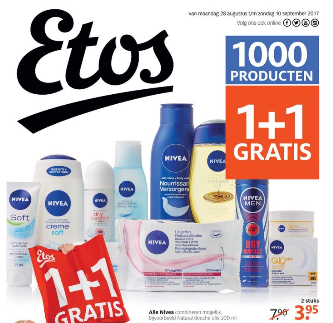 Heel veel 1+1 gratis bij Etos (meer dan 1000 producten)