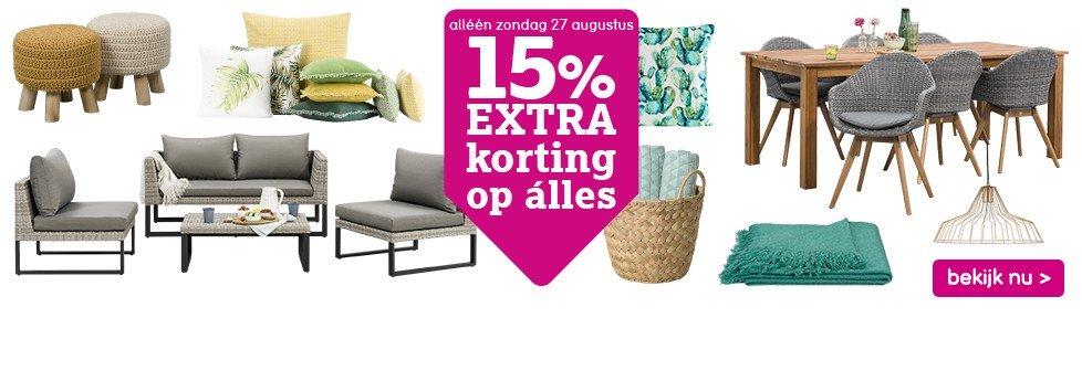 15% korting Leenbakker (vandaag)