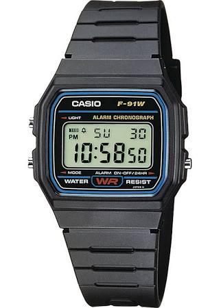 Casio horloge (F-91W-1YEF) voor €8,80 @ Amazon.de