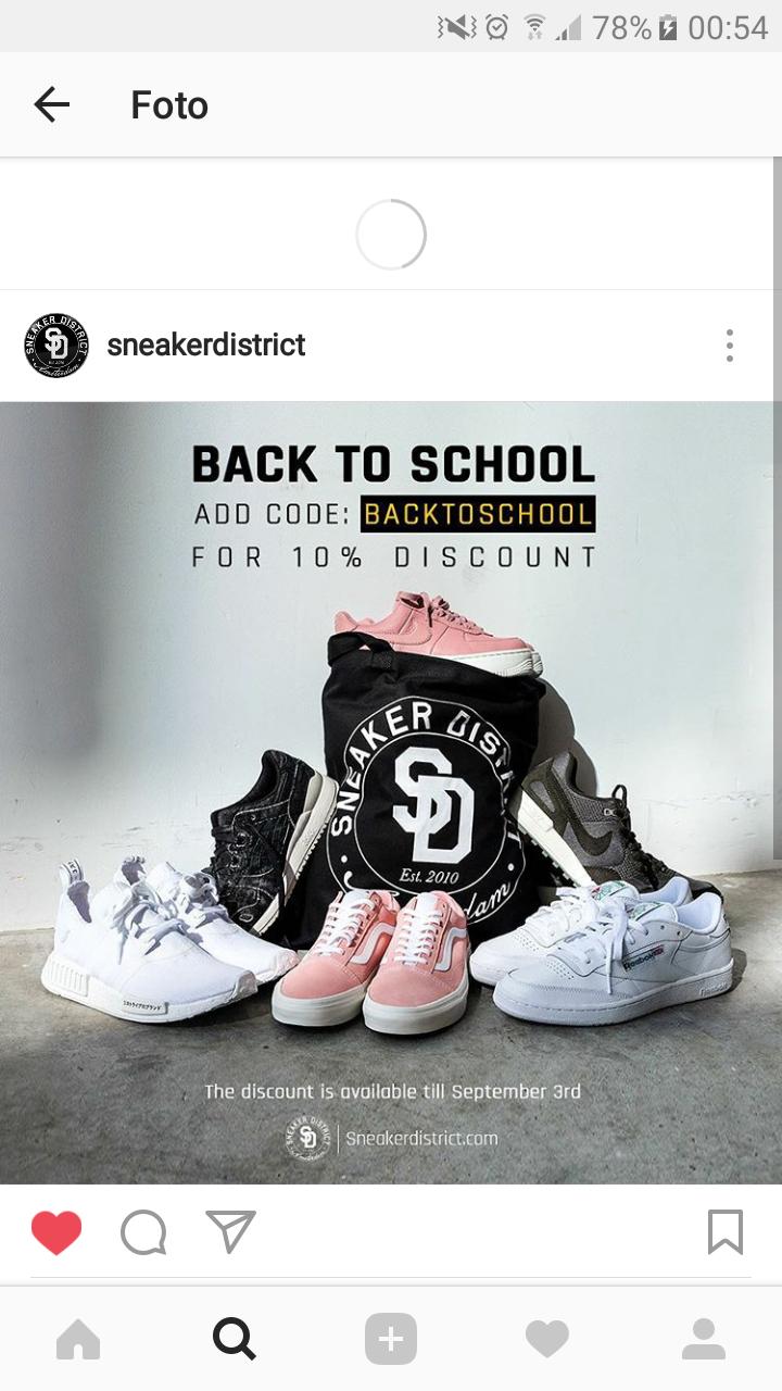 10% korting @ Sneaker District