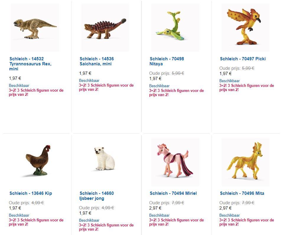 Diverse Schleich figuren afgeprijsd + totale collectie 3=2 @ ToysRus