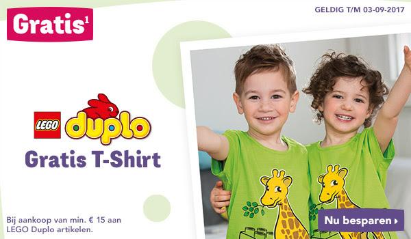 Gratis T-Shirt bij een besteding van €15 aan LEGO duplo @ Toysrus