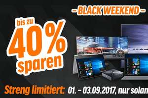 Black Weekend aanbiedingen tot 40% korting op computer/audio/video/etc @notebookbiller.de