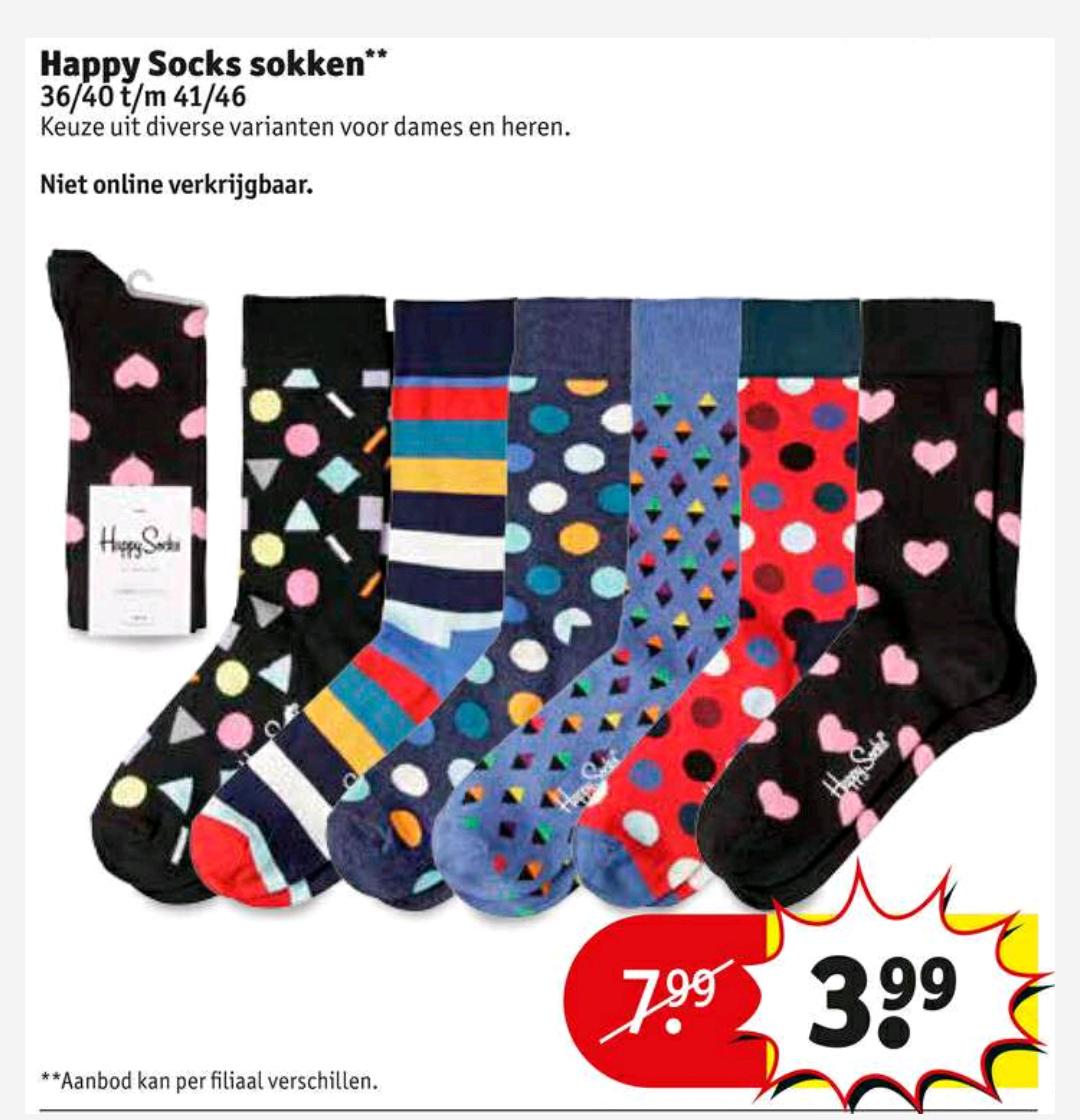 Happy Socks voor €3,99 @ Kruidvat (vanaf dinsdag)
