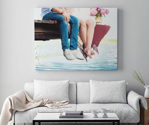 Canvas 80x120 cm voor 22 euro.