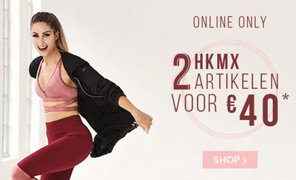 [UPDATE] Actie: 2 HKMX sportartikelen voor €40 (normaal tot €45 p.s.!!) @ Hunkemöller