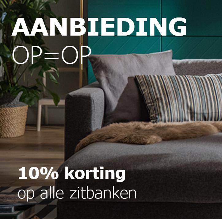 10% korting op alle zitbanken @ IKEA