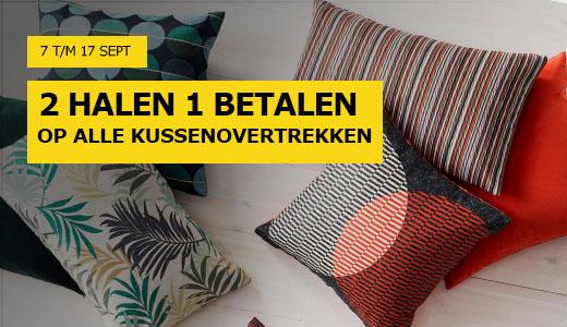 2 halen, 1 betalen op kussenovertrekken @ IKEA